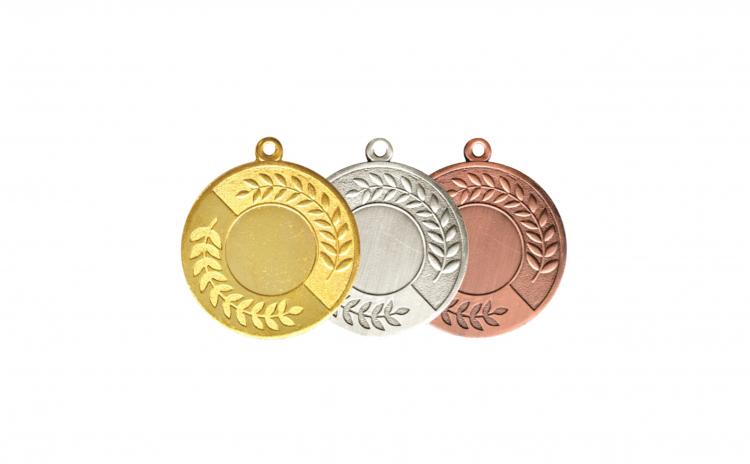 Medalii - 3 bucati, 5 cm, material Zamac