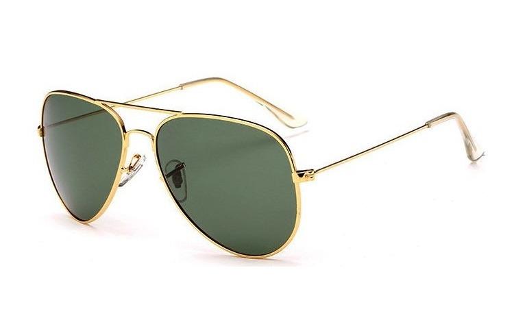Ochelari de soare Aviator Verde - Auriu