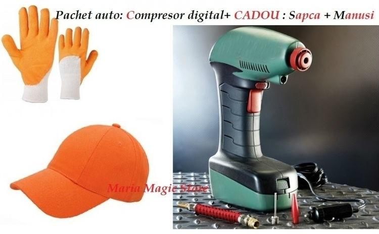 Compresor auto Digital + Cadou
