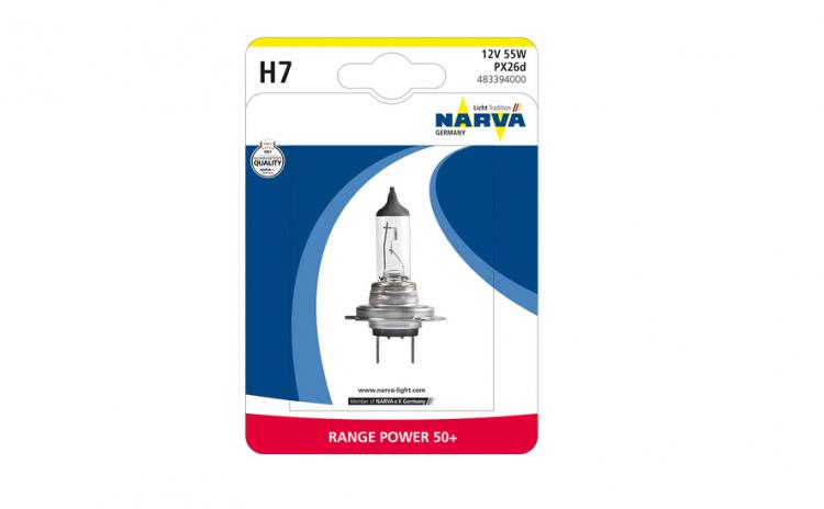 Bec Narva 12v 55w H7 range power+50% 48
