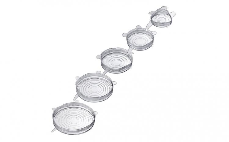 Set 5 capace flexibile din silicon