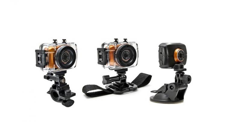 Camera Sport Si Auto Camcorder Hd Touchscreen Waterproof, Pachet Full Cu Suporti De Prindere, La Doar 235 Ron In Loc De 480 Ron