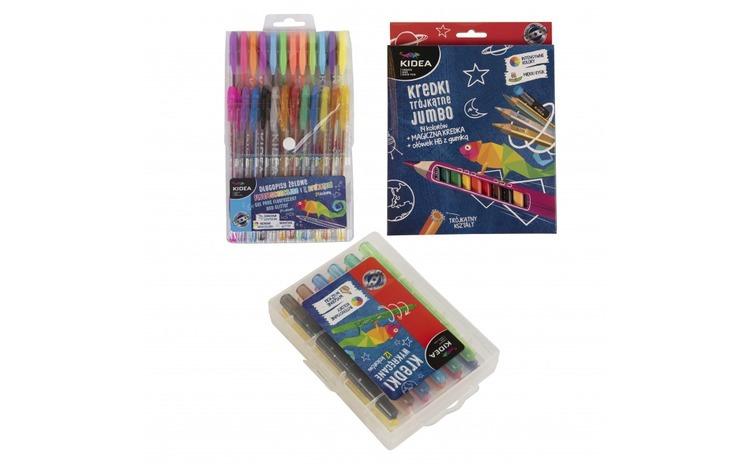 Set rechizite, pixuri si creioane, Kidea