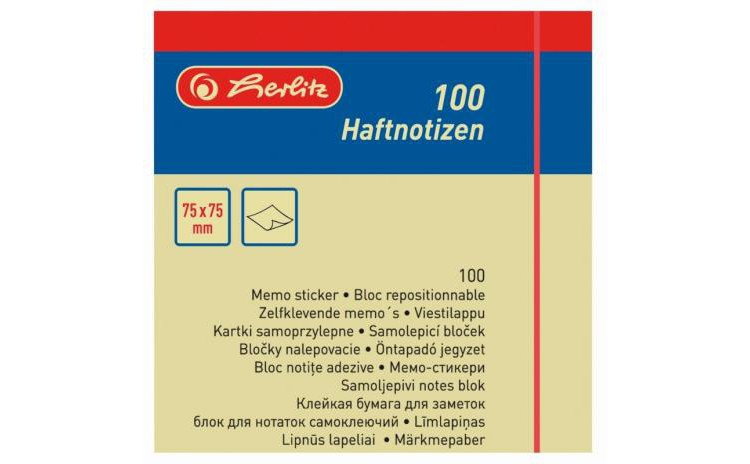 Bloc Notite Adezive 75x75mm 100file Galben