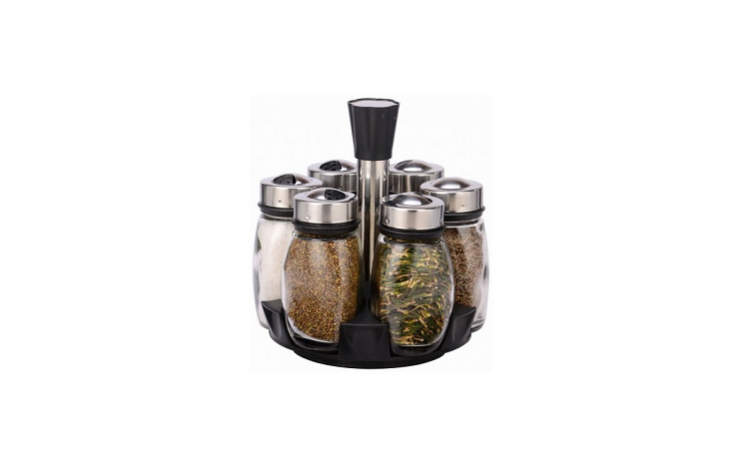 Set Condimente - 7 Buc  Cu Suport Rotativ Grumberg  La 68 Ron In Loc De 139 Ron