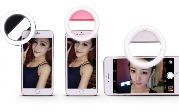 Clips cu LED pentru selfie