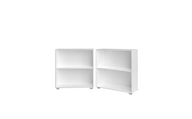 Biblioteca cu 2 rafturi Vela Alb 77 cm