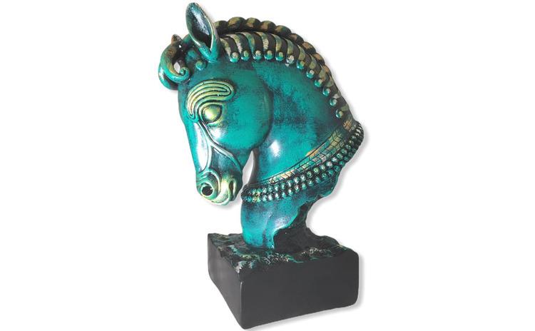 Statueta Decorativa,  Cap de Cal, 27 cm,
