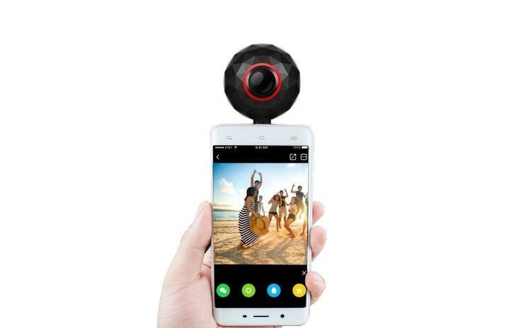 Imagine indisponibila pentru Camera foto panoramica smartphone, 360 grade sferic, microusb, lolly