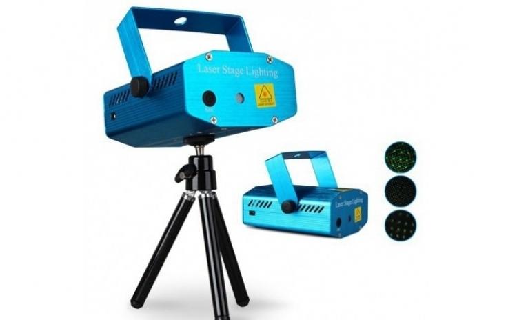Laser disco+ bec rotativ + stecher cadou