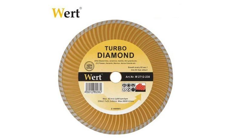Disc diamantat turbo (180 mm)