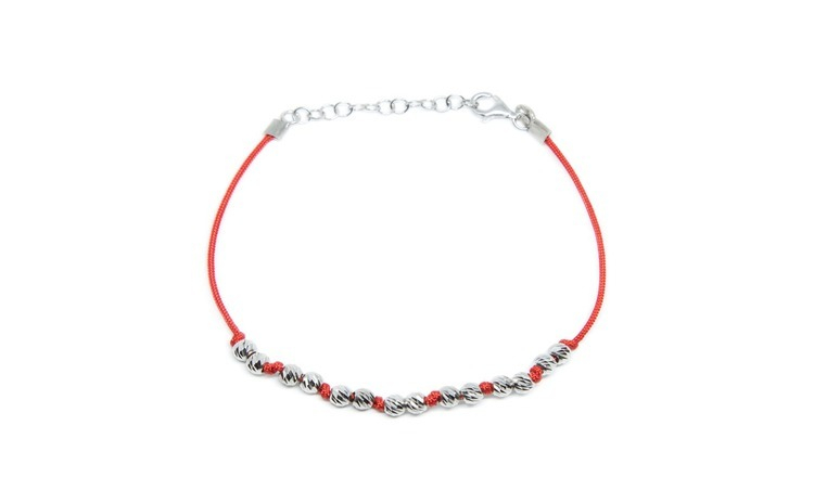 Bratara dama argint 925 cu sfoara rosie