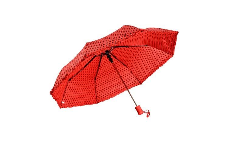 Umbrela telescopica, rosie cu buline