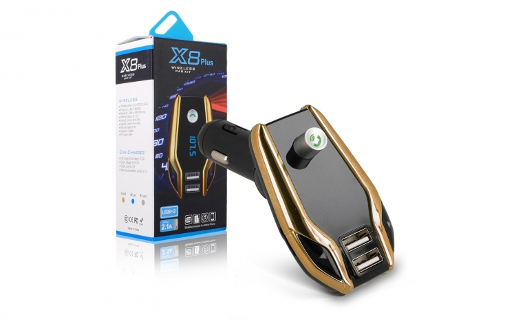 Modulator FM cu afisaj digital X8 plus