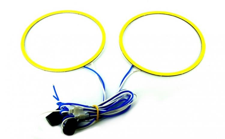 Set 2 inele LED COB 70 mm (angel eyes )