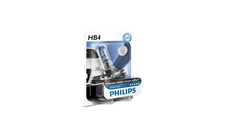 Imagine indisponibila pentru Bec proiector pentru Ceata - Philips HB4 White Vision, 1 bucata