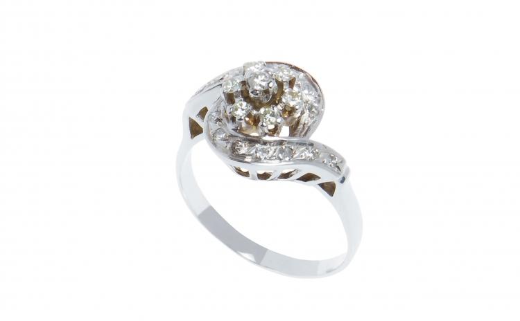 Inel din Aur 14k cu 21 Diamante