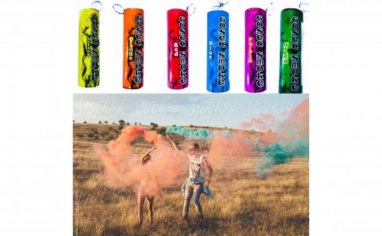 Fumigene colorate pentru sedinte foto