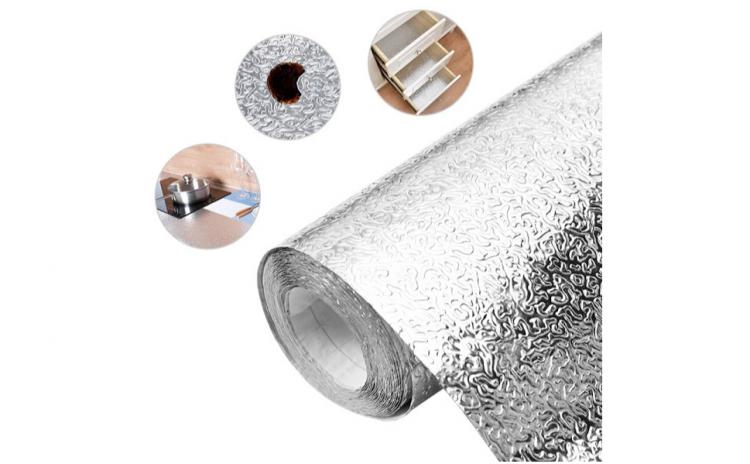 Set 2 folii de aluminiu autoadeziva buca