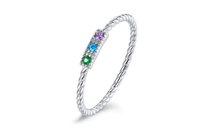 Inel fix din argint 925 Colorful Stone