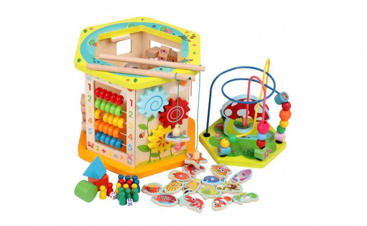 Centru educativ Montessori 10 in 1 Lemn