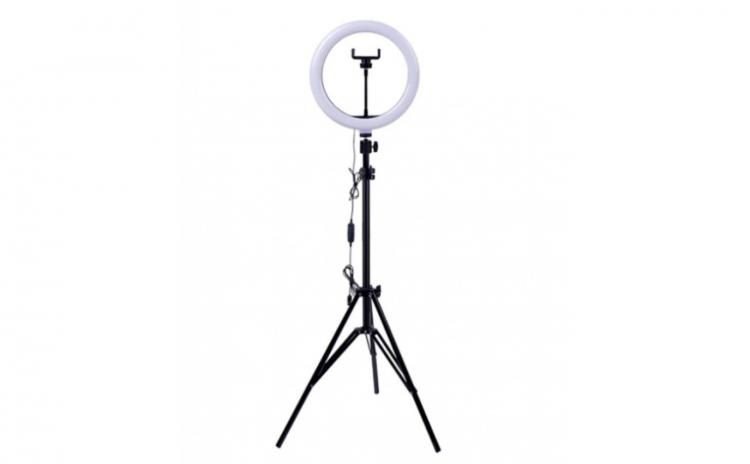 Lampa circulara LED cu trepied
