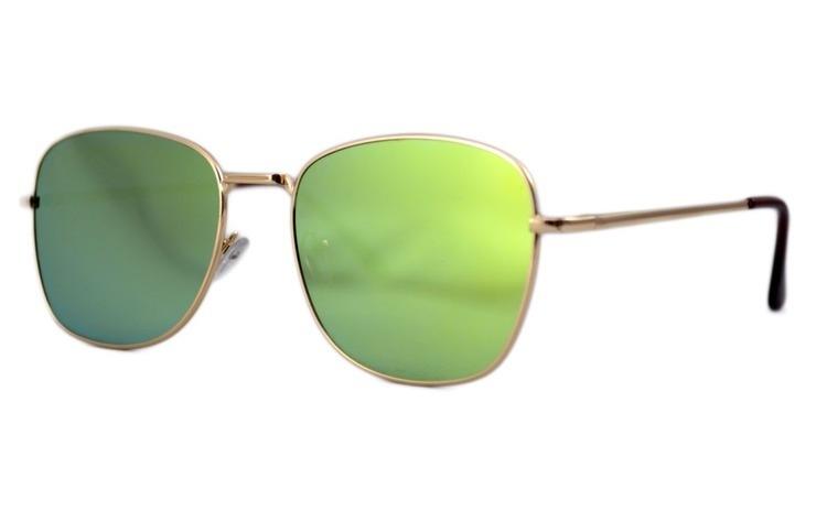 Ochelari de soare Aviator Oglinda Verde