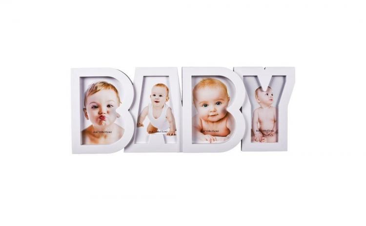 Rama foto alba pentru bebelusi
