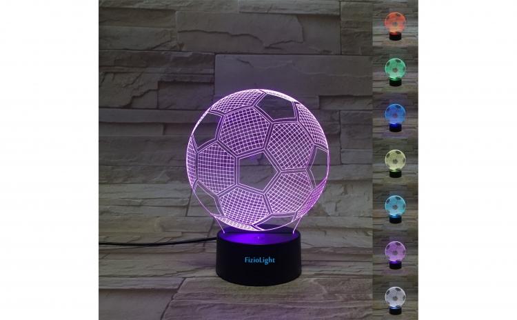 Lampa 3D LED, Minge, 7 culori, USB