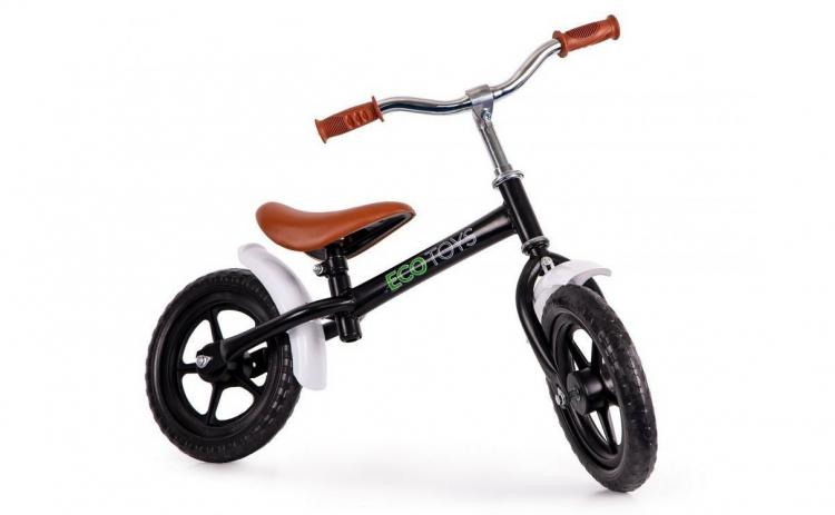 Bicicleta fara pedale Ecotoys, Neagra