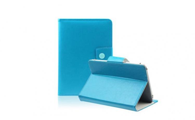 Imagine indisponibila pentru Husa Tableta 8 Inch, Model X, culoare Turcoaz, tip mapa , prindere 4 cleme, protectie antisoc C93
