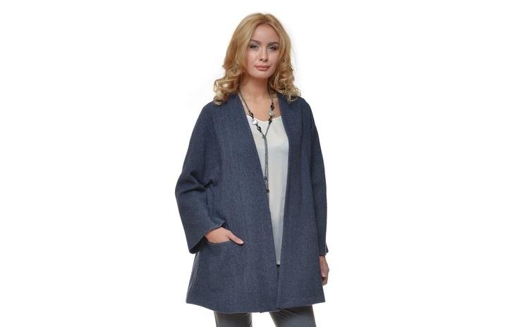 Jacheta Dama Bleumarin din Lana -