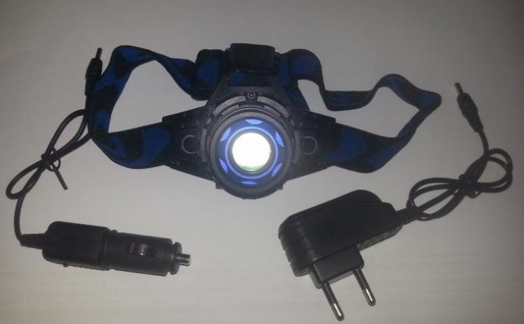 Lanterna frontala cu acumulator, led si zoom Cree 5W, la doar 49 RON in loc de 149 RON