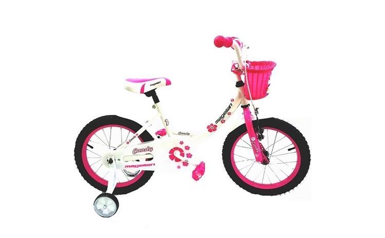 "Bicicleta MAGELLAN Candy 16"" alb/roz"