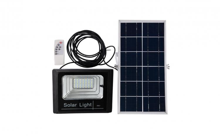 Proiector 25W, 42 LED SMD, cu panou solar, telecomanda si functii multiple