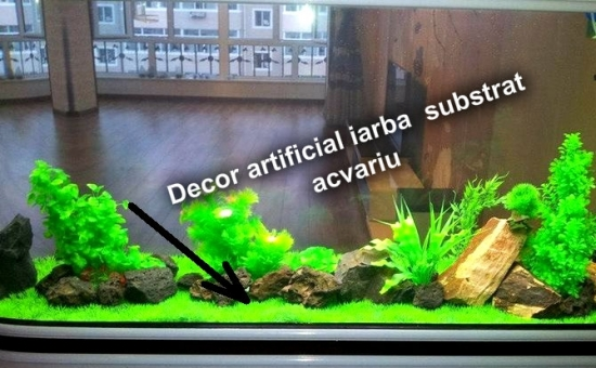 Gazon artificial acvariu, Set 2 buc, Design Natural, la 39 RON in loc de 85 RON