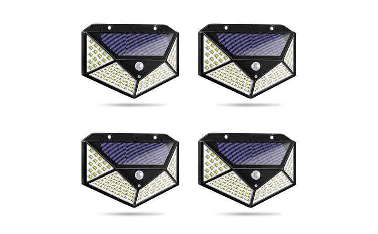Set 4 Lampi solare 100LED, senzor de