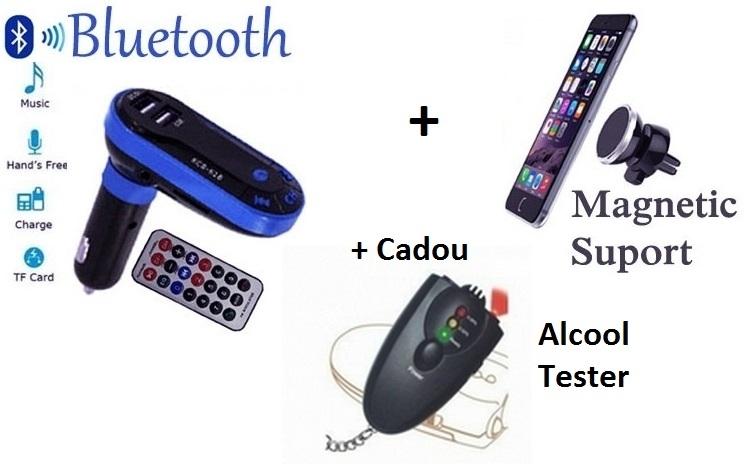 Modulator auto + suport telefon + Cadou