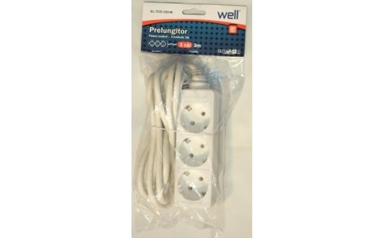 Prelungitor 3 prize 3M, cablu 3xG1.5mmp,