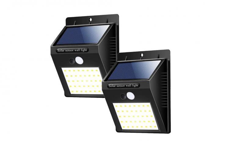 Lampa solara cu senzor miscare, 2 bucati