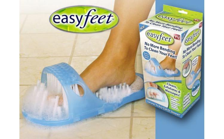 Papuc cu perie de masaj pentru picioare