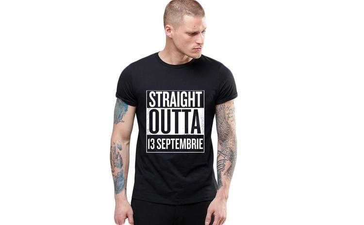 Tricou negru barbati - Straight Outta