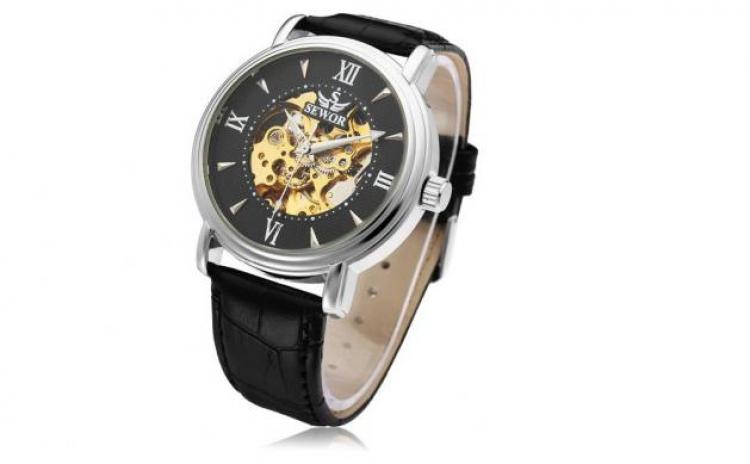 Ceas Elegant Mecanic-automatic Sewor Luxury Edition+ Cutie Cadou, La 169 Ron In Loc De 364 Ron