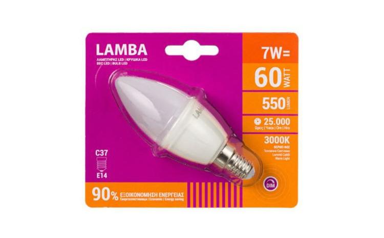 Bec LED E14 7W (C37)JstJ  Dimming