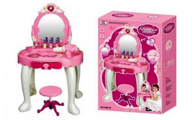 Masuta De Toaleta Pentru Fetite Cu Oglinda Si Taburet L