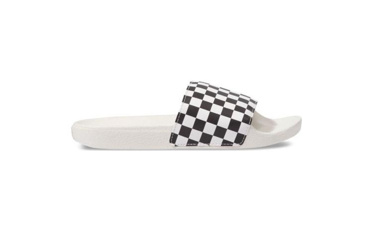 Slapi femei Vans Checkerboard Wht/Blk
