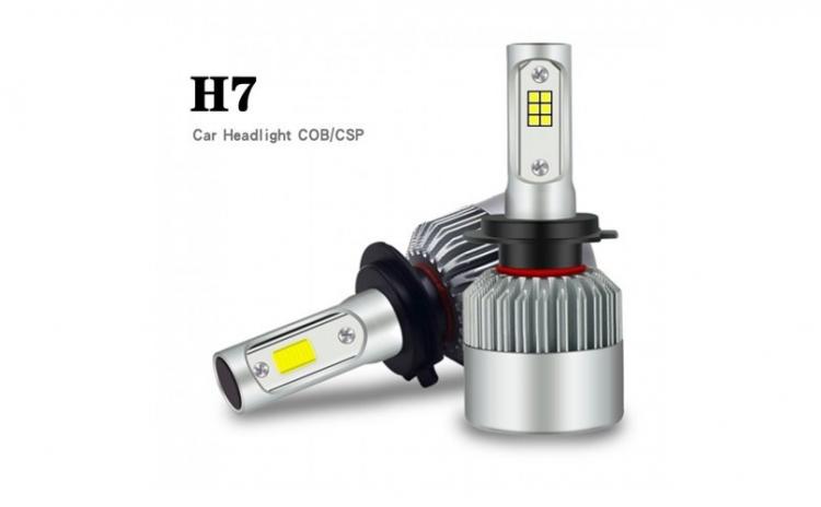 Set 2 Becuri LED C6 Auto H7, 6000K, 36 W
