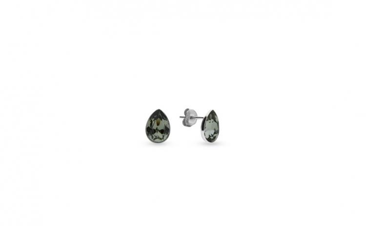 Cercei Pear Mini Black Diamond