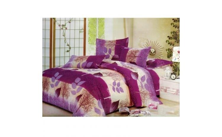 Lenjerie pat 2 persoane - Purple Leafs