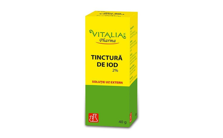 Tinctură de iod 2% Vitalia Pharma, 40